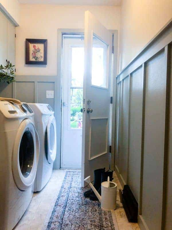 Laundry Room Makeover With Diy Peel Stick Tiles Caitlin De Lay Blog